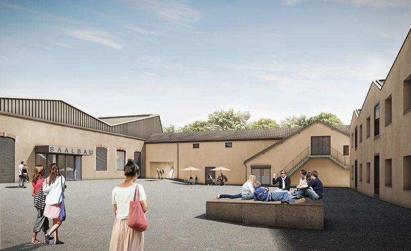 So soll der Innenhof des künftigen Jugend- und Kulturhauses Schappe-Süd dereinst aussehen.
