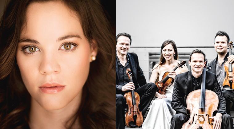 Die Sopranistin Regula Mühlemann (l.) hat mit dem Casal Quartett ein herzzerreissend-romantisches Programm zusammen gestellt (am 26. Februar in der Shedhalle).