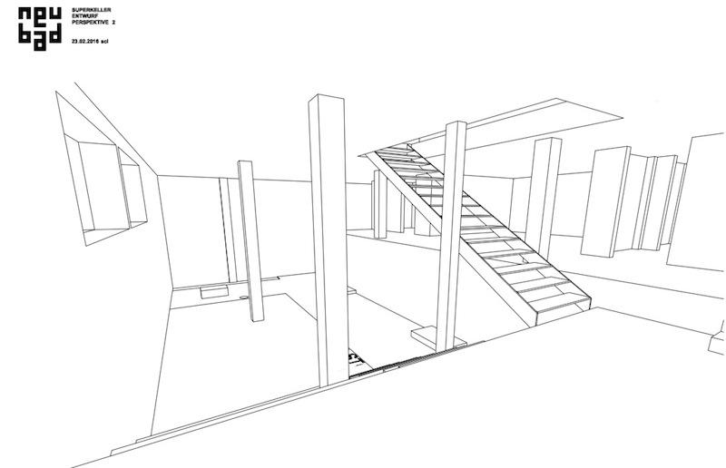 Die Visualisierung zeigt den Keller mit einer zusätzlichen Treppe aus dem Bistro in den neuen Raum. Diese Version kann jedoch in nächster Zukunft nicht umgesetzt werden. (Bild: Lars Schuchert)