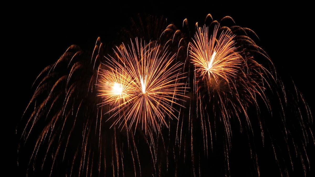 Für viele der Höhepunkt des Abends: das Feuerwerk.