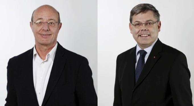 Der Grüne Nationalrat Louis Schelbert (links) und SVP-Nationalrat Franz Grüter bewerten das Verhalten Grafs völlig unterschiedlich. (Bilder: parlament.ch)