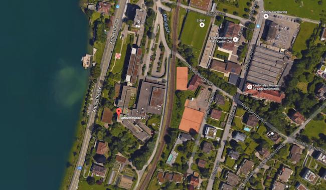 Und so sieht das Areal aus der Satelitenperspektive aus.