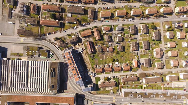 Die Gartenstadt von oben.