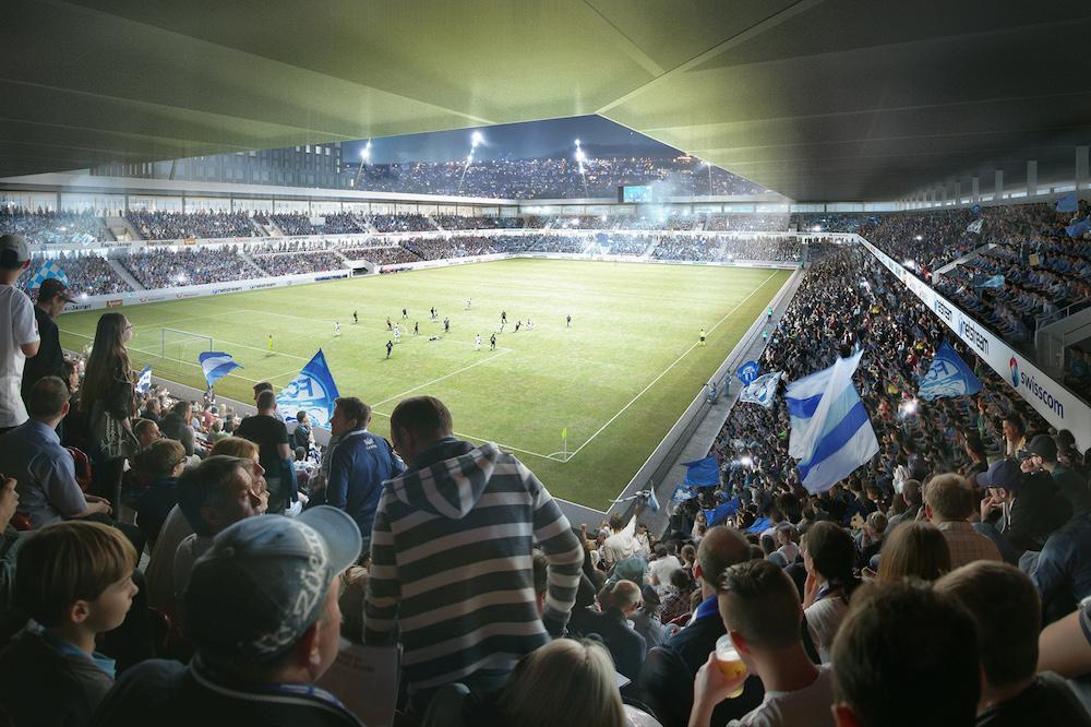So soll es im neuen FCZ/GC-Stadion dereinst aussehen.