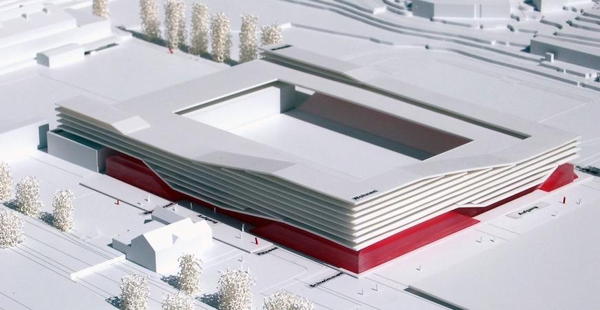 So hätte das Marazzi-Stadion auf der Allmend aussehen sollen.