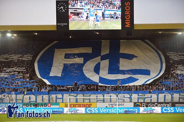 Die FCL-Choreo beim Spiel gegen den FC Sion. (Bild: fcl.fan-fotos.ch / Dominik Stegemann)