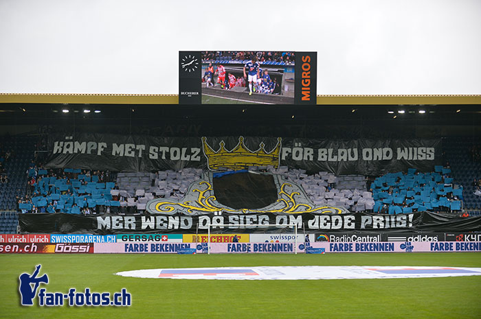 Die Choreo der FCL-Fans vor dem Thun-Spiel. (Bild: fcl.fan-fotos.ch / Dominik Stegemann)
