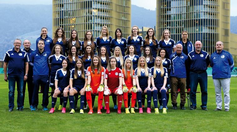 Das Team der 1. Mannschaft in der Saison 2015/2016. (Bild: fclfrauen.ch)