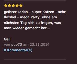Auf der Seite sexdrive.ch findet der Kitcat-Club jedenfalls Anklang.