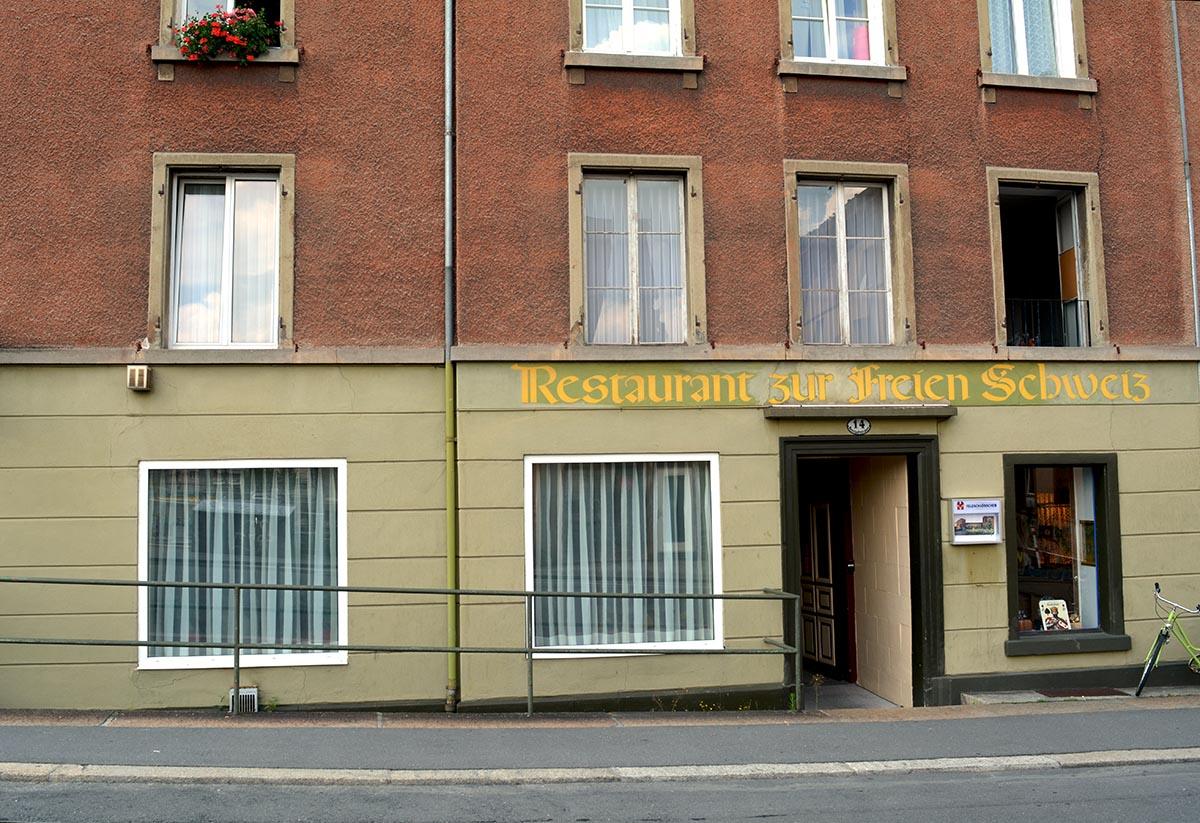 Viele kennen bloss die altertümliche Beschriftung an der Neustadtstrasse.