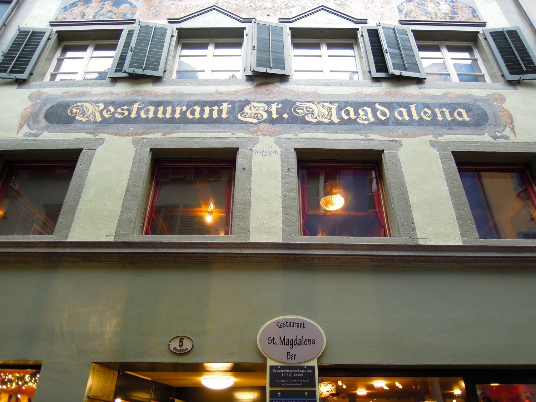 Das Restaurant St. Magdalena ist nicht wegzudenken von hier.