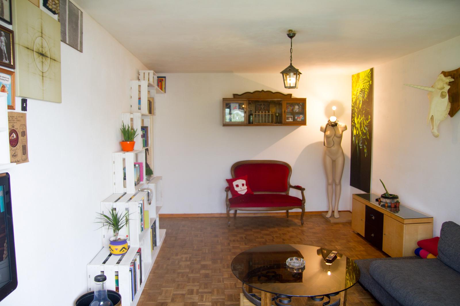 Das Wohnzimmer der Designerin