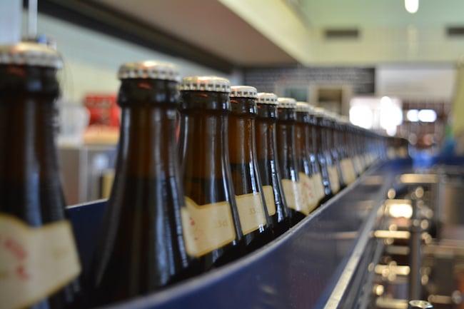 Gut 3 Millionen Flaschen werden jährlich in der Baarer Brauerei abgefüllt.