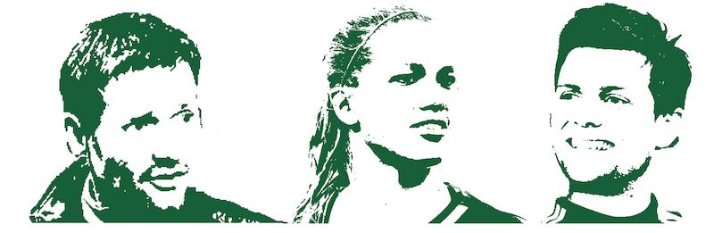 Drei der bekanntesten SCK-Mitglieder: Stefan Marini, ehemaliger Trainer, Profi-Fussballerin Lara Dickenmann und Fussballprofi Valentin Stocker.