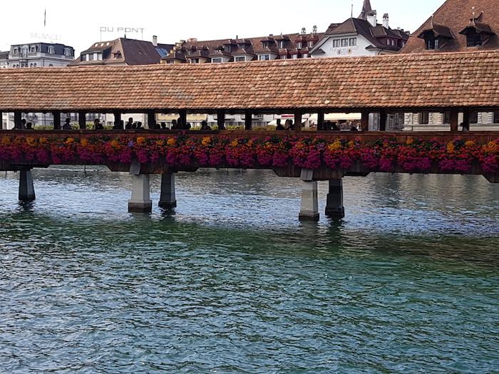 Die Kapellbrücke, ein Fixpunkt in der Stadtführung.