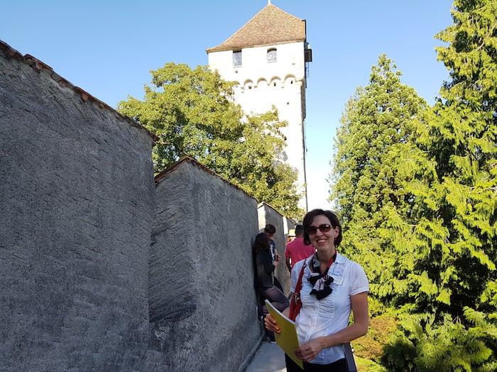 Sonja Schwegler führt kompetent durch die Stadt.