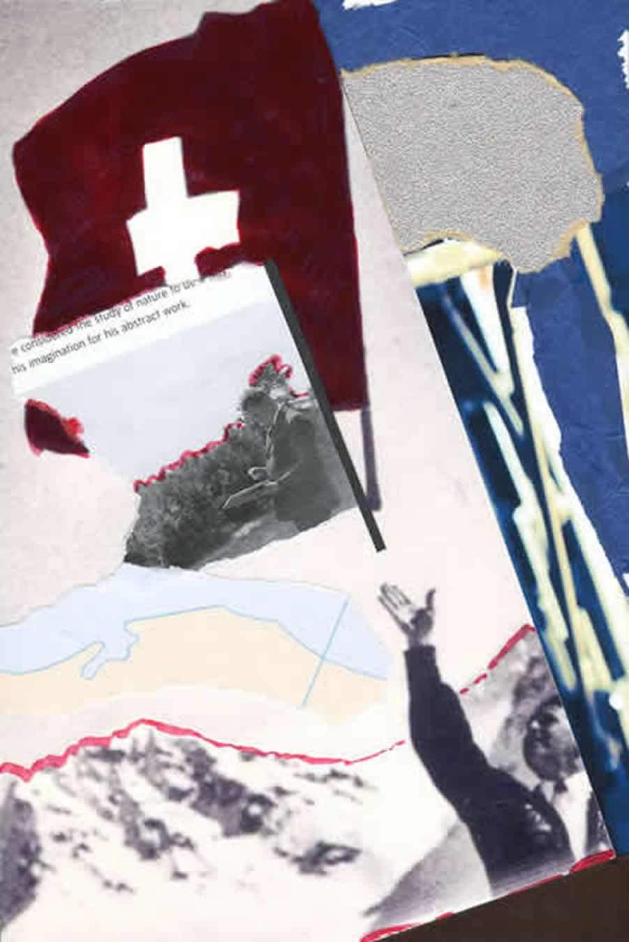030 Did Kurt Schwitters think Franz Hug a tosser.Papier, Sandpapier und Touche 229mm x 152mm