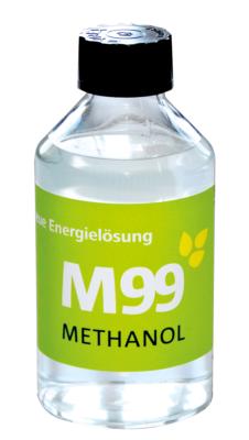 Methanol M99, dies soll über ein Dutzend heute verwendeter Brennstoffe ablösen, weltweit.