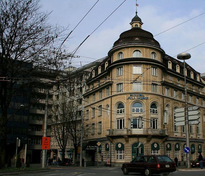 Das denkmalgeschützte Hotel Anker am Pilatusplatz Luzern wird im Innern totalsaniert.