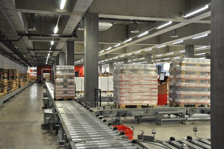 Das Warenumschlagszentrum in Rothenburg.