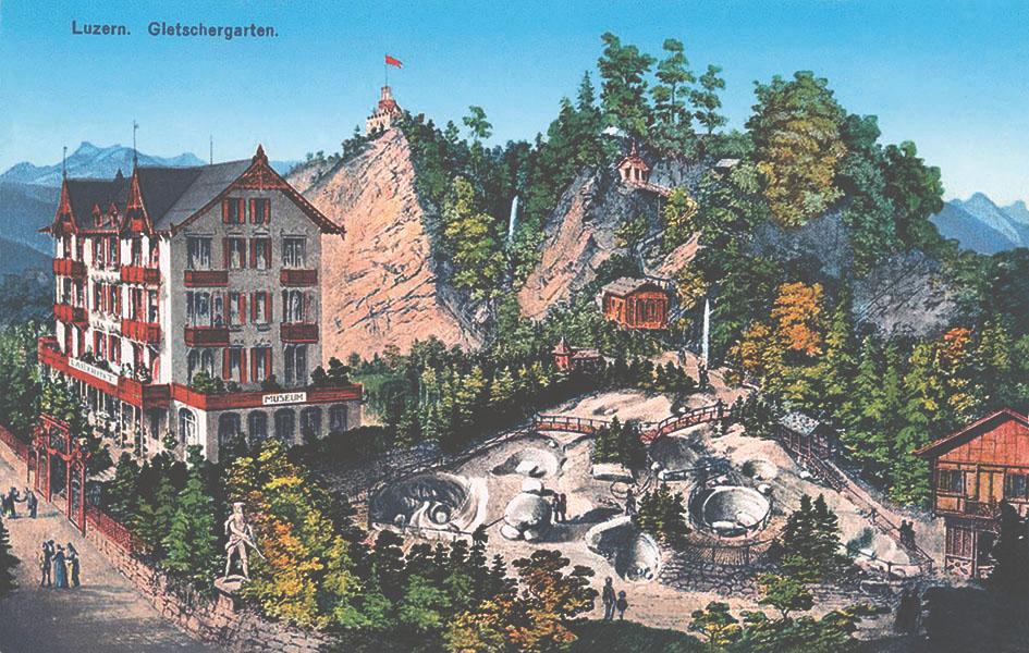 Der Gletschergarten um 1875.