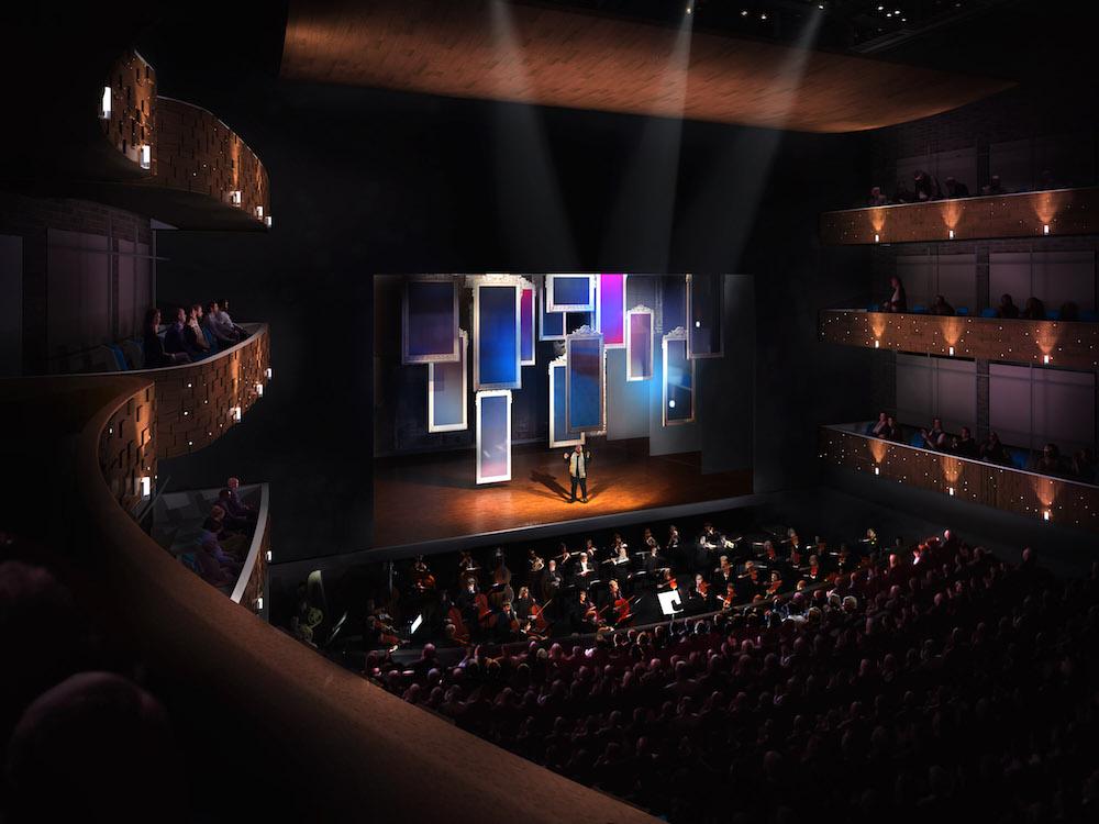So könnte die grosse Bühne der Salle Modulable aussehen.