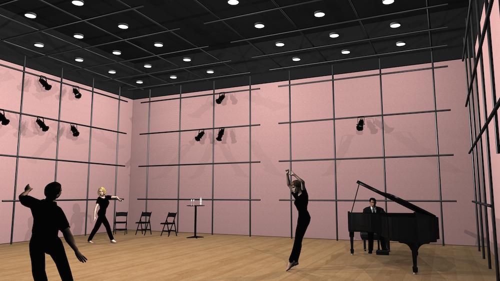 So könnte eines der Studios der Salle Modulable aussehen.