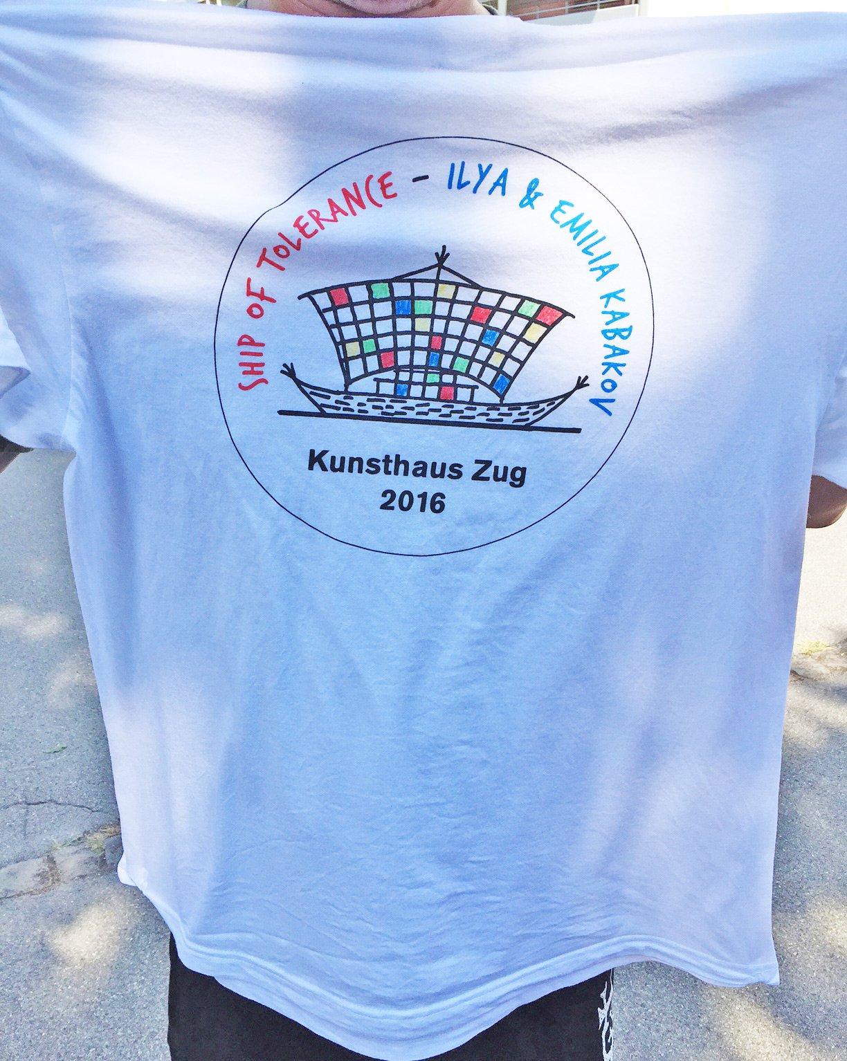 Helfer-T-Shirt für das Projekt mit dem Kunsthaus Zug (Vorderseite)