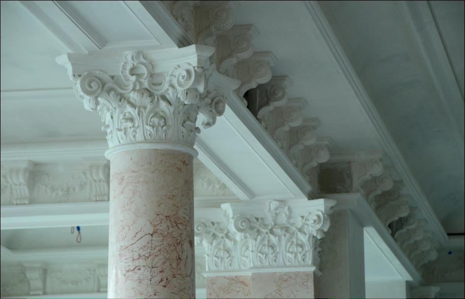 Der Innenausbau im Palace Hotel schreitet zügig voran.
