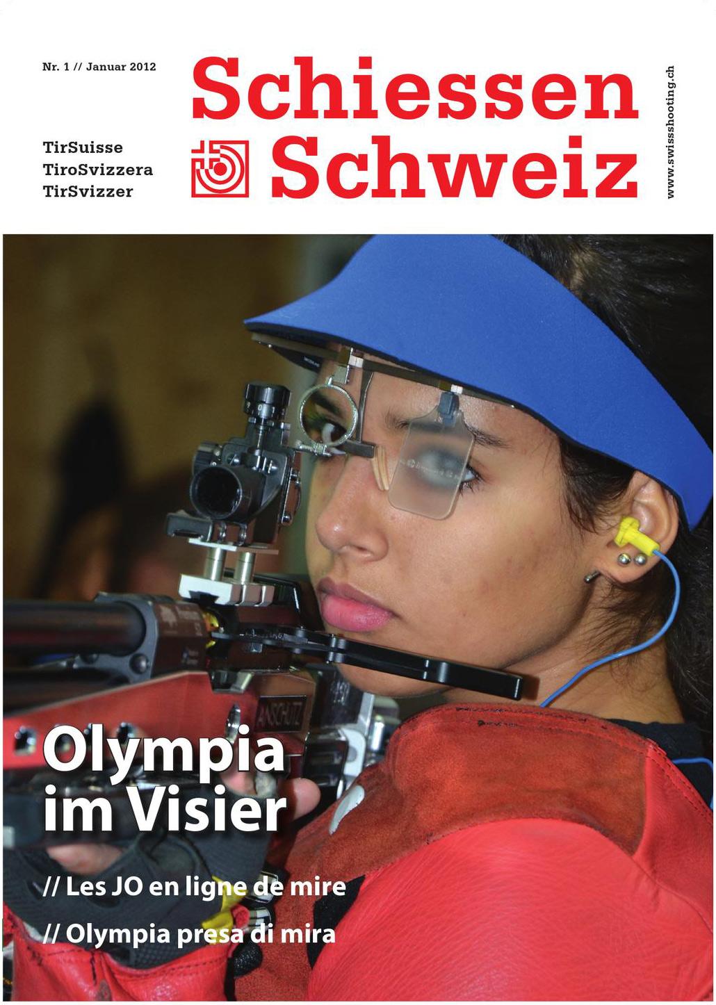 Das Magazin Schiessen Schweiz zeigt eine Champion-Brille.
