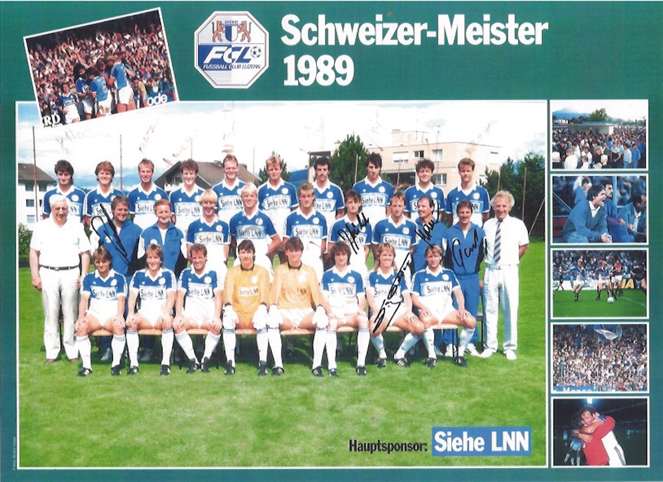 Wer erkennt auf diesem meisterlichen Foto von 1989 den neuen FCL-CEO Marcel Kälin? Er steht in der hintersten Reihe, dritter von links.