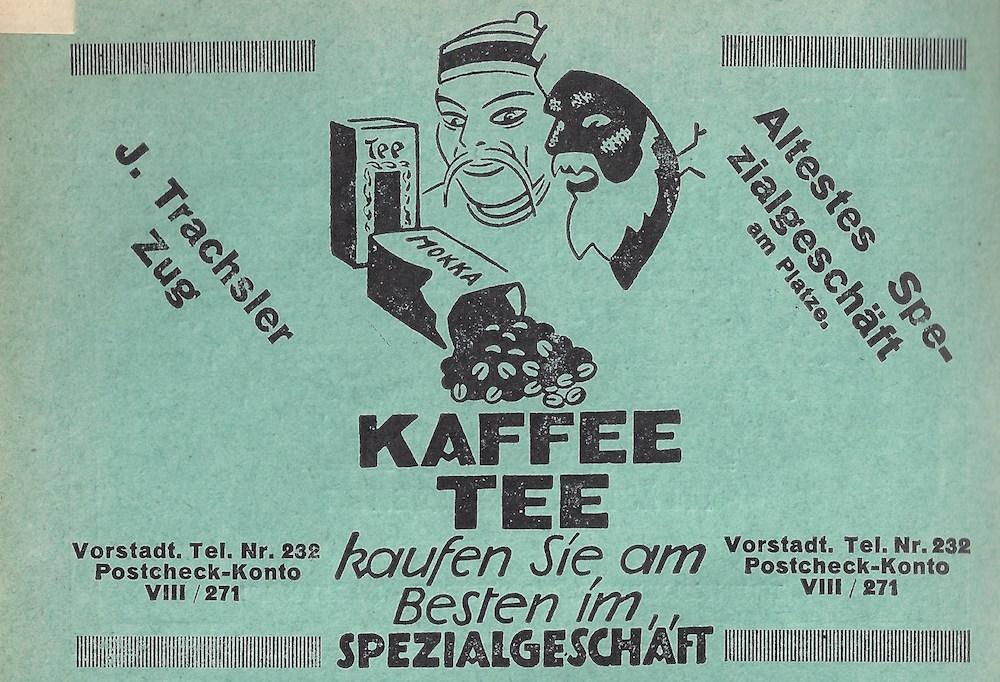 Kaffee und Tee aus dem «Altesten Spezialgeschäft». Mit leicht rassistischem Beigeschmack.