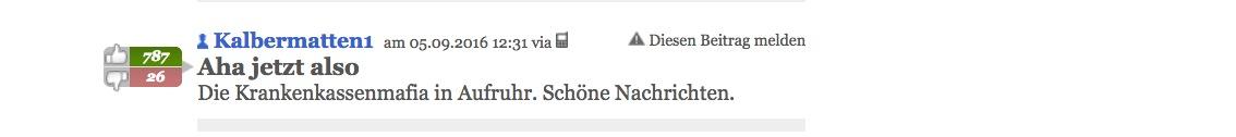 Das Thema bewegt auch in den Social Media: Leserkommentar zur Geschichte über die Walchwiler Firma auf der Webseite von «20 Minuten».