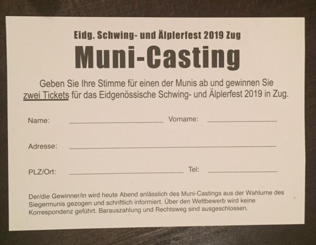 Beim Muni-Casting konnte man auch mittippen.