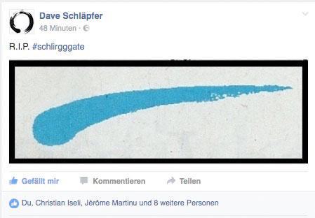 Der «Schlirgg» ist auch schon Thema auf Facebook.