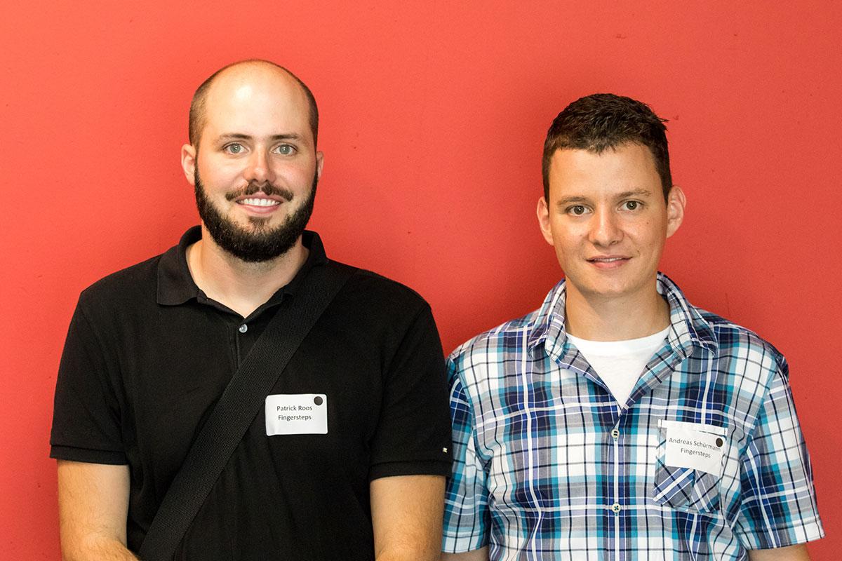 Patrick Roos (links) und Andreas Schürmann haben da so eine Idee ... (Bild: Ronny Baumann)