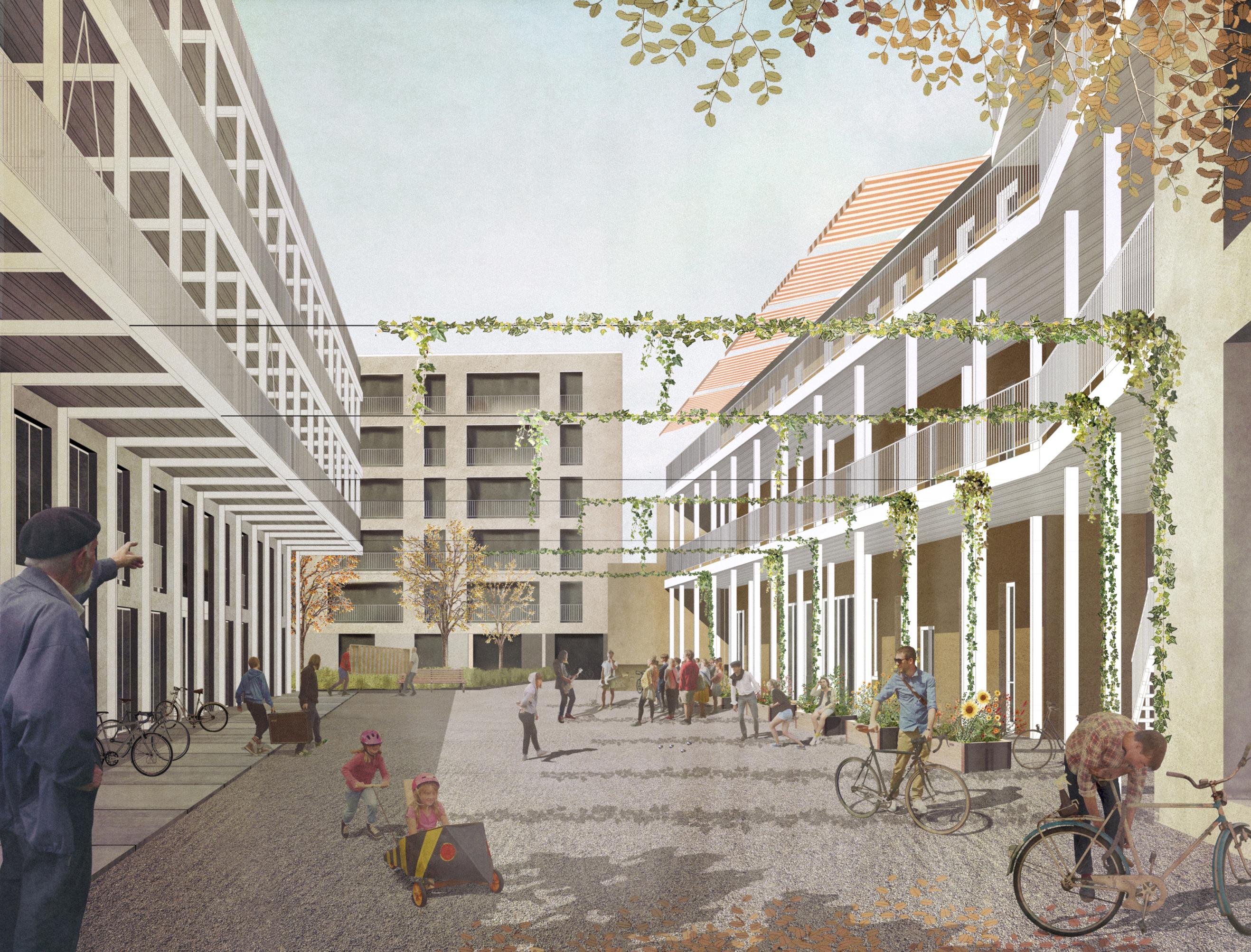 Visualisierung aus der druckfrischen Broschüre zum Wohnwerk Teiggi in Kriens.