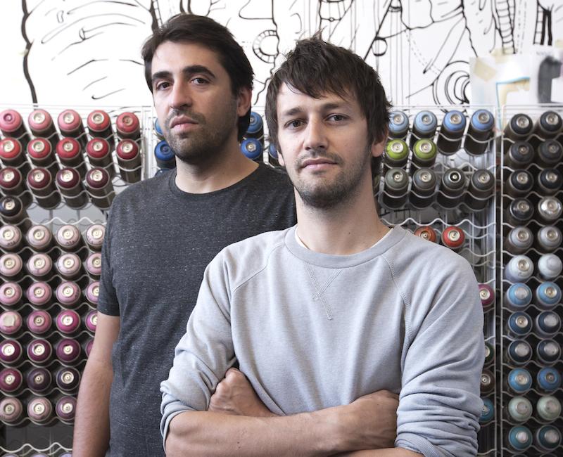 Die beiden Künstler: Christian Rebecchi (links) und Pablo Togni. (Bild: Simone Cavadini)
