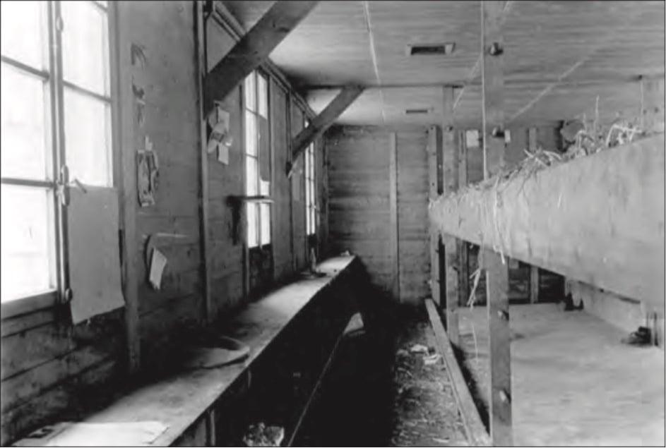 Die meiste Zeit verbrachten die Internierten, darunter Italiener, Franzosen, Deutschen, Österreicher, Russen und Amerikaner, in diesen einfachen ungeheizten Holzbaracken. Sie schliefen besonders im Winter auf feuchtem Stroh.
