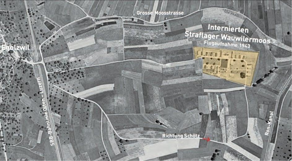 Heute steht auf dem Areal des ehemaligen Straflagers in Egolzwil die Jugendvollzugsanstalt des Kantons Luzern.