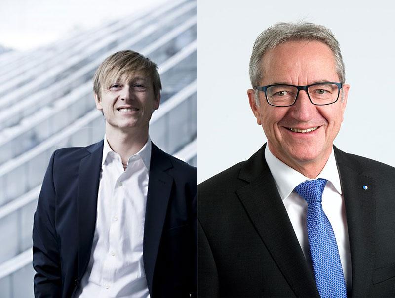 Gar nicht einig: Preisüberwacher Stefan Meierhans (links) und Regierungsrat Robert Küng. (Bilder: zvg/Montage zentralplus)