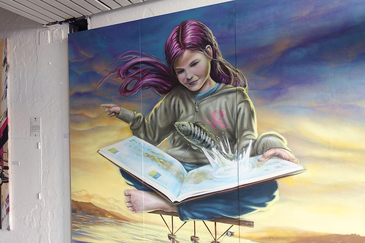 Der Zürcher Graffiti-Künstler Redl hat dieses Gemälde im Neubad gesprayt. (Bild: jwy)