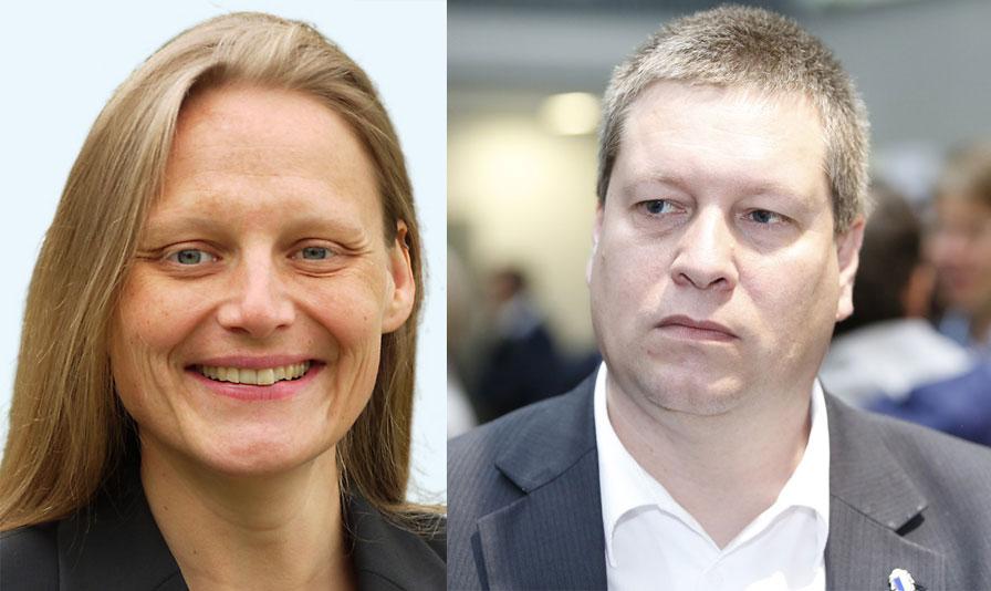 Laura Kopp (GLP) und Peter With (SVP). (Bilder: zvg)