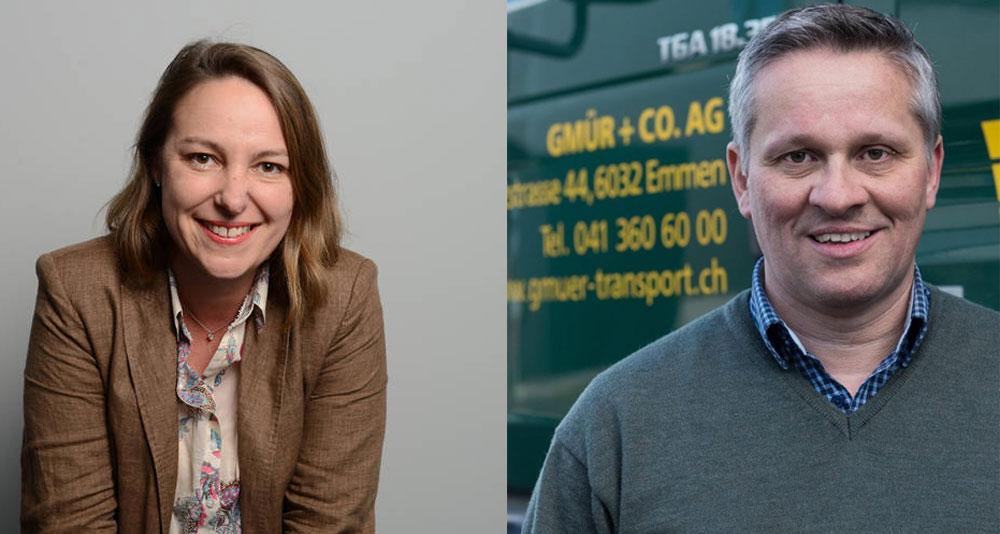 Sonja Döbeli Stirnemann (FDP) und Peter Gmür (CVP). (Bilder: zvg)