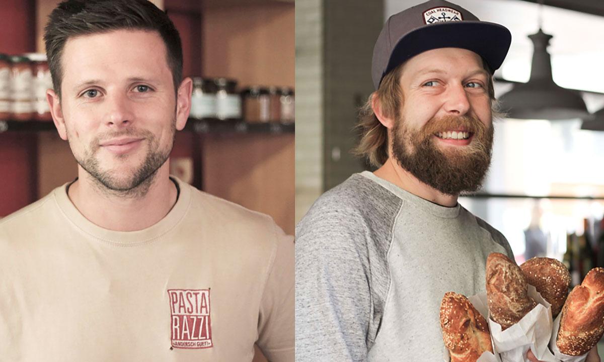 Die anderen zwei Pastarazzi: Markus Hurschler (links) und Kim Zumstein