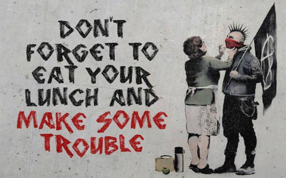 Bekanntes Werk des britischen Streetart-Künstlers Banksy (Bild: zVg).