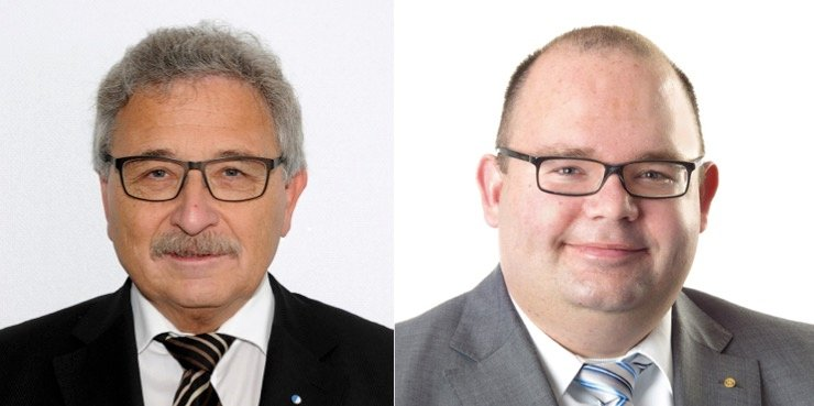 Hans Luternauer (links) und Armin Hartmann vom Verband Luzerner Gemeinden (Bilder: zVg).