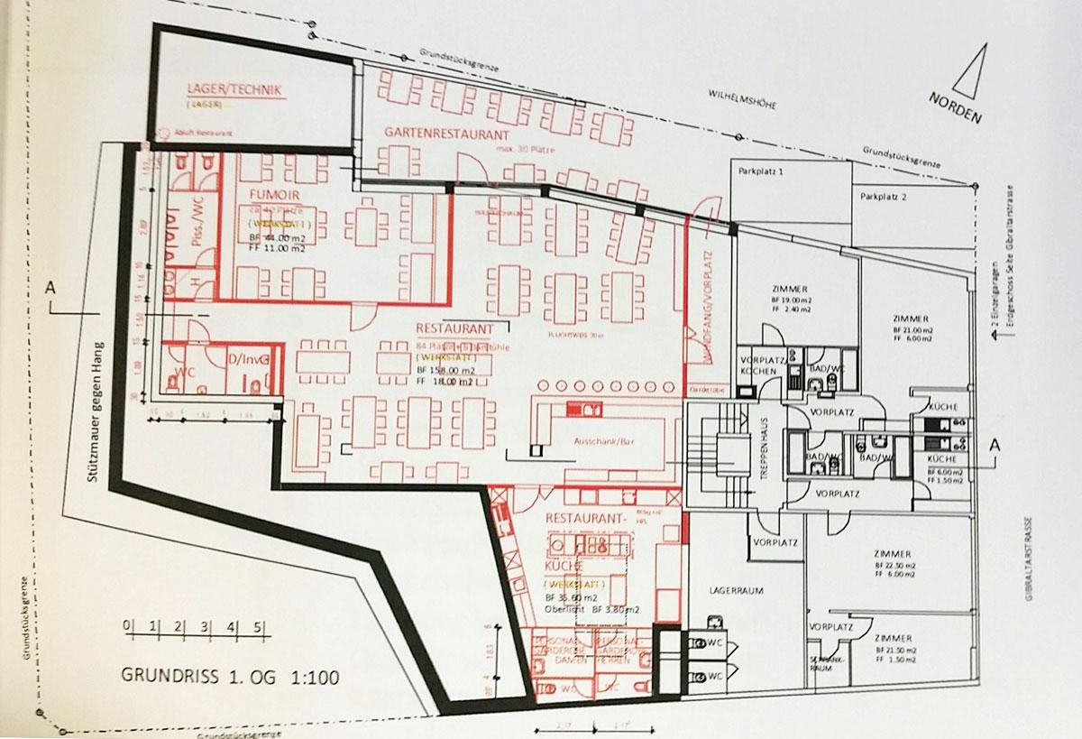 So sieht das geplante Restaurant auf dem Plan aus. (Bild: zvg)