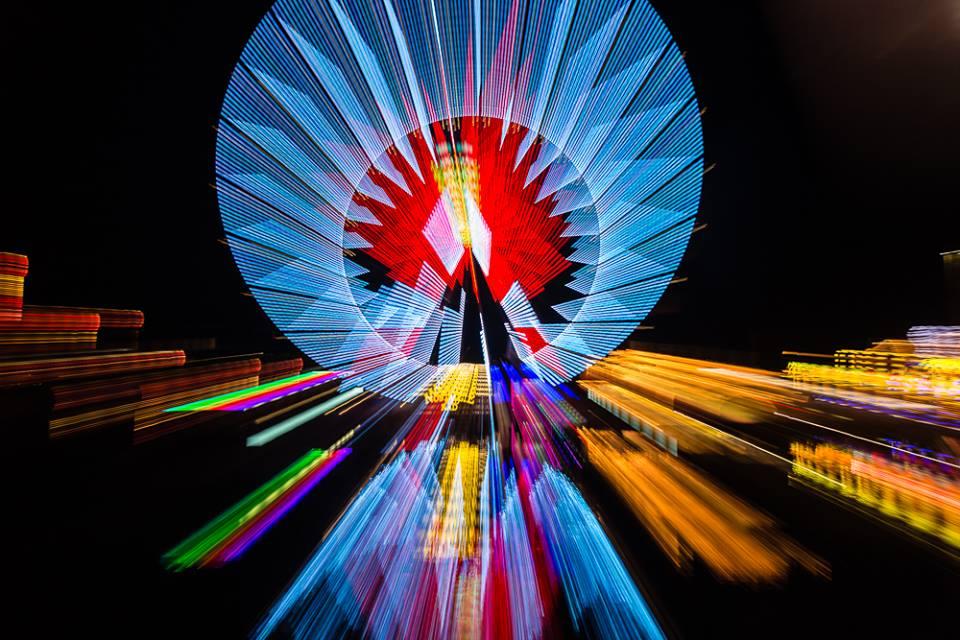Ist das noch das Riesenrad oder schon Kunst? (Bild: Benedikt Anderes)