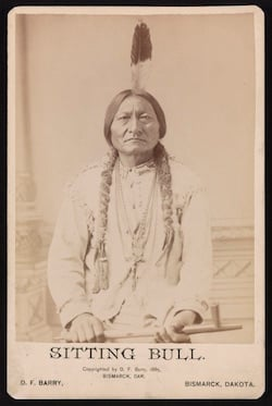 Sitting Bull, der Chief der Sioux-Indianer. (Quelle: Library of Congress)